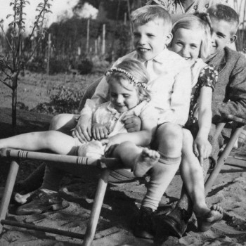 Ingeborg, Franz, Ilse und Niels Kaisen 1932