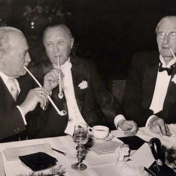Schaffermahlzeit 1954: Wilhelm Kaisen, Konrad Adenauer und Theodor Spitta