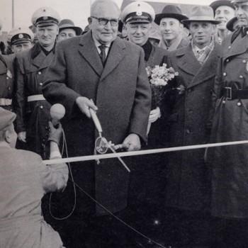 Einweihung der Großen Weserbrücke am 22.12.1960 (heute: Wilhelm Kaisen-Brücke)