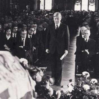 Staatsakt für den verstorbenen Wilhelm Kaisen am 23.12.1979