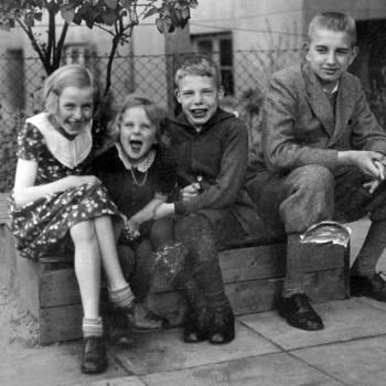 Ilse, Ingeborg, Franz und Niels Kaisen am 22.5.1933