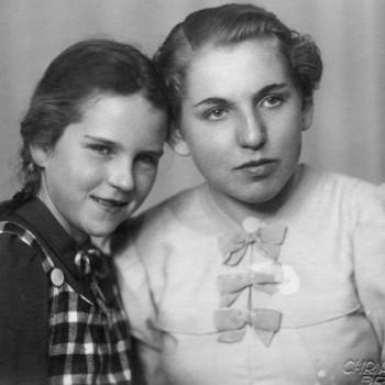 Die Schwestern Ingeborg und Ilse Kaisen um 1945