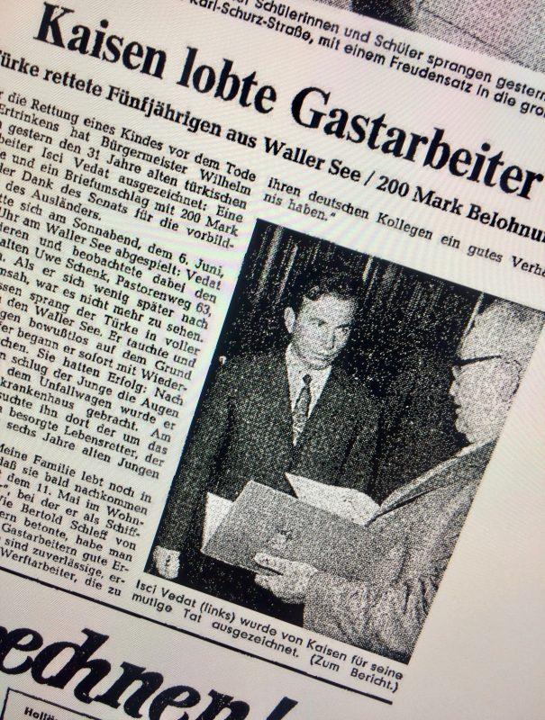 Zeitungsauschnitt aus dem Weser Kurier 1964